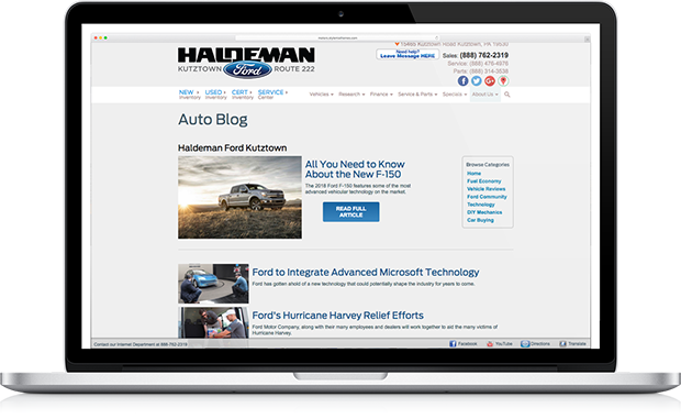 Let us create an engaging auto blog for your dealership