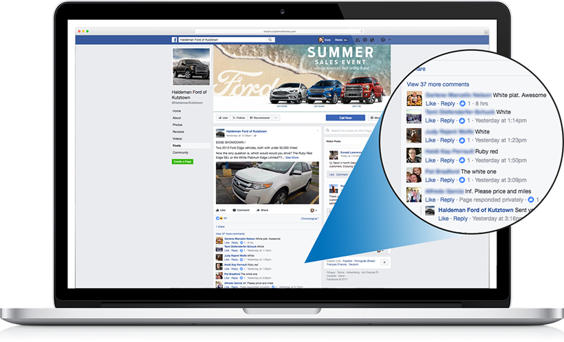 engage users on social media and create more opportunities for you dealership