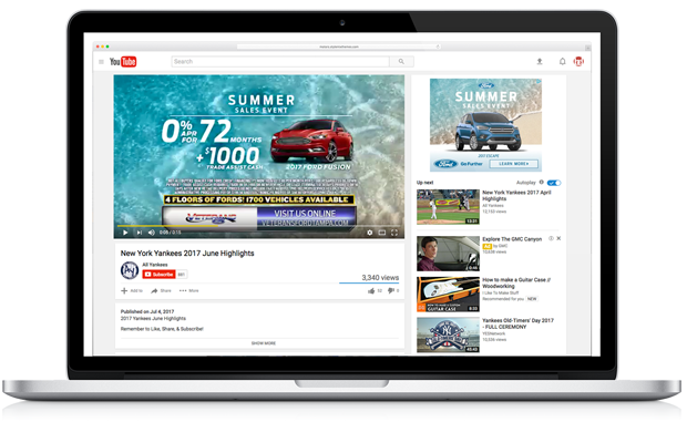 advertise your great offers with video pre-roll ads