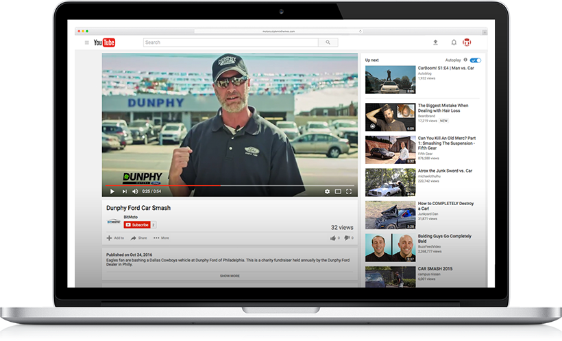 A car dealership's video on YouTube offers a great way for customers to engage on multiple levels.